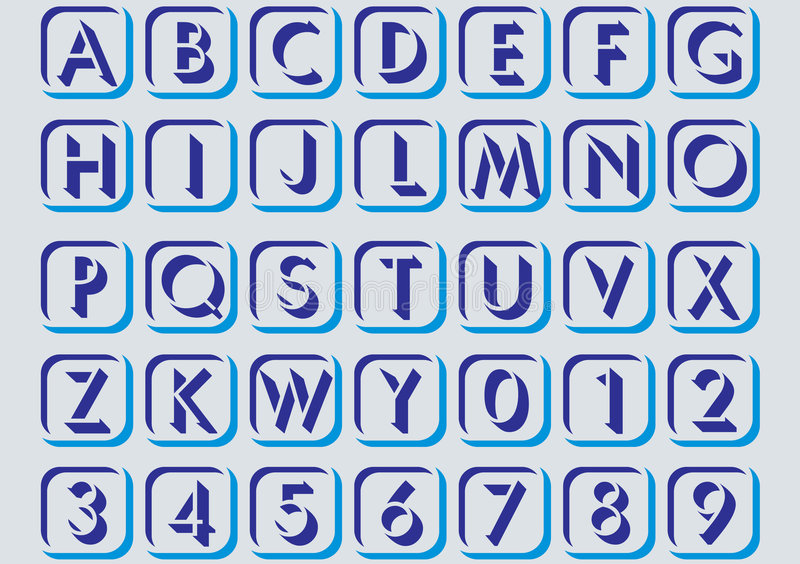 In alphabetical letters. royalty free stock photos