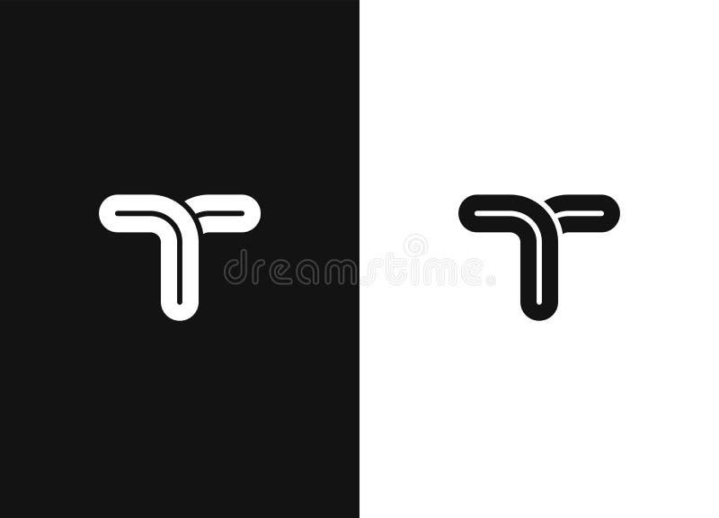 Alphabetical logo design concepts. Line vector symbol vector illustration