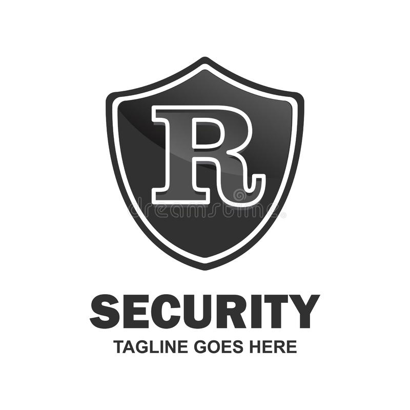 Alphabetical logo of security compnay and typography vector vector illustration