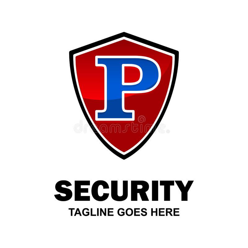 Alphabetical security logo design with creative typography vector vector illustration
