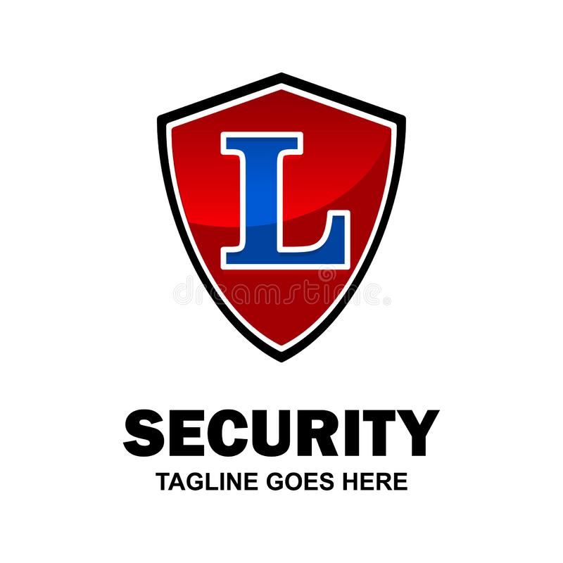 Alphabetical security logo design with creative typography vector royalty free illustration