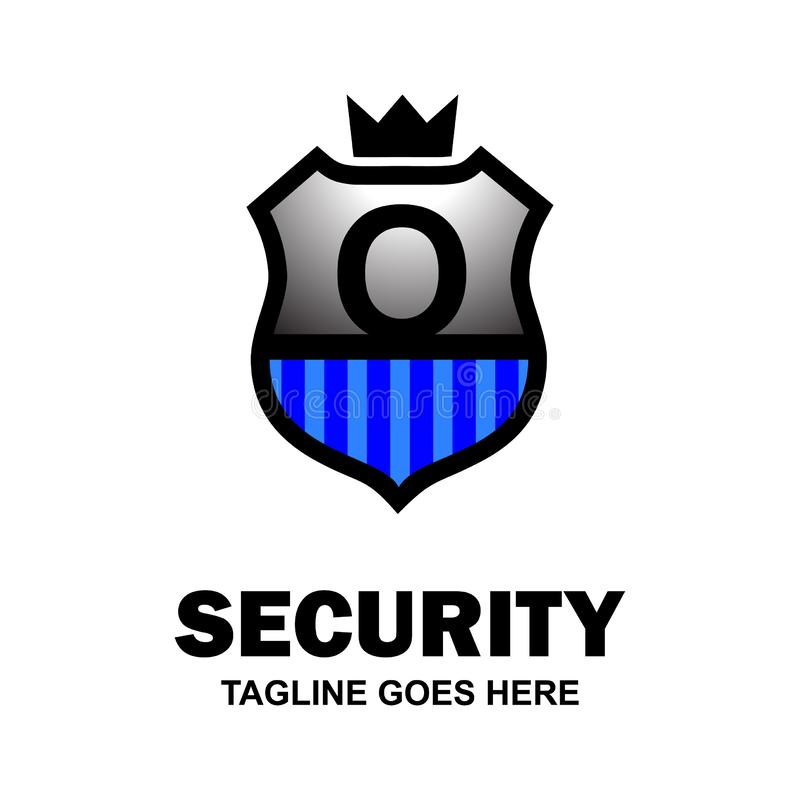 Alphabetical security logo design with creative typography vector stock illustration