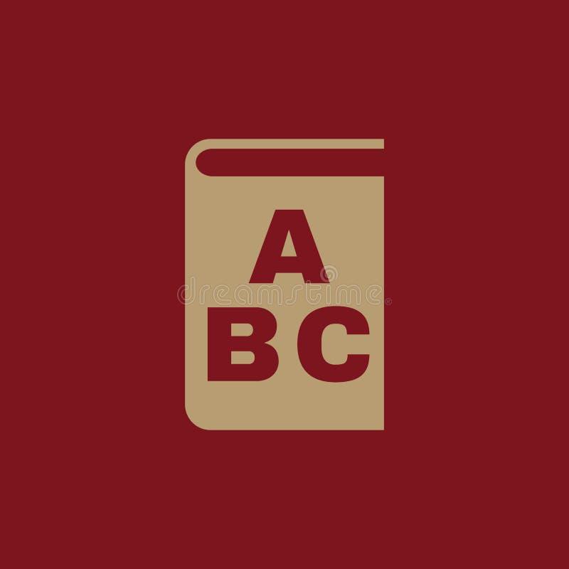 Alphabetikone ENV 10 Bibliothek und ABC, Alphabetsymbol web graphik jpg ai app zeichen nachricht flach bild lizenzfreie abbildung
