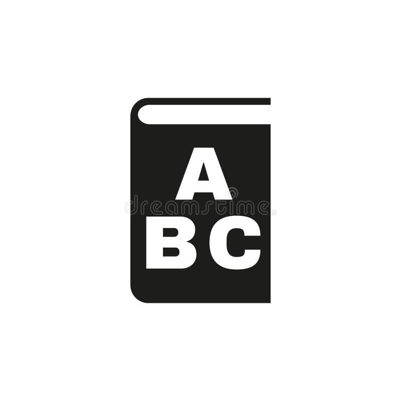 Alphabetikone ENV 10 Bibliothek und ABC-Symbol web graphik jpg ai app zeichen nachricht flach bild zeichen ENV lizenzfreie abbildung