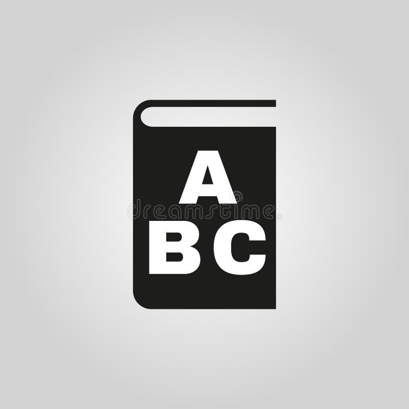 Alphabetikone ENV 10 Bibliothek und ABC-Symbol web graphik jpg ai app zeichen nachricht flach bild zeichen ENV stock abbildung