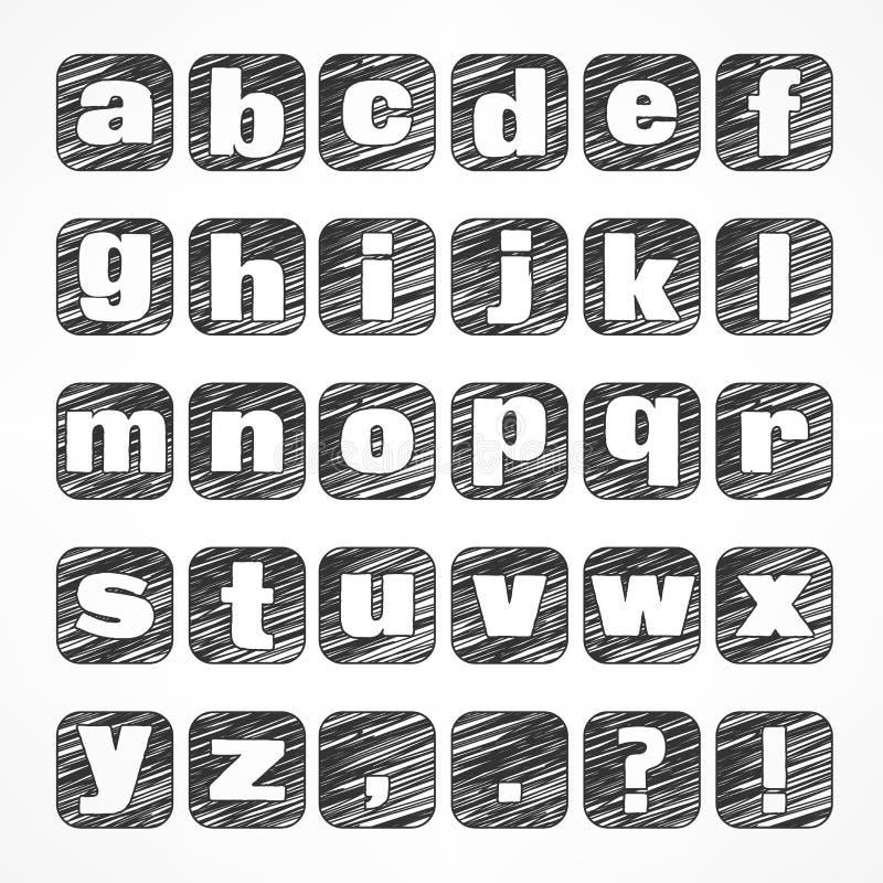 Alphabetikonen auf Weiß vektor abbildung