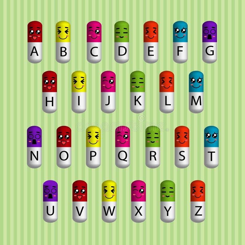 Alphabetkapsel stockbilder