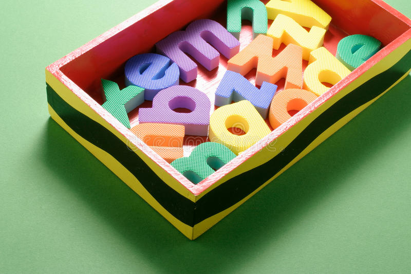 Download Alphabets in Box stock photo. Image of colours, pieces - 19994218