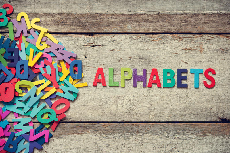 ALPHABETS stock photography