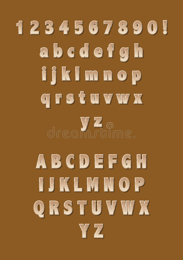Alphabets stock photo