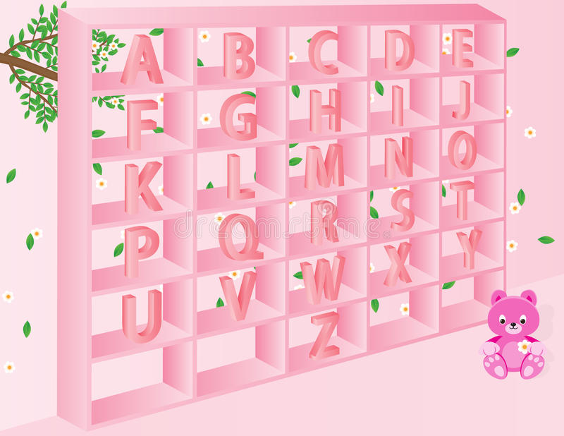 Alphabets for kids stock images