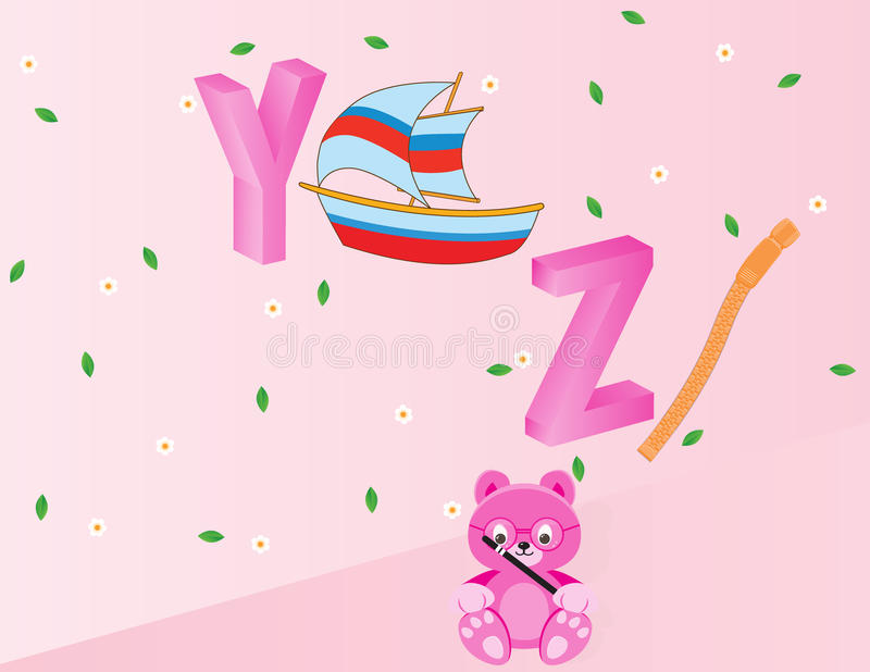 Alphabets for kids- YZ royalty free stock images