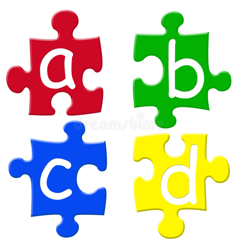 Alphabets puzzels royalty free illustration