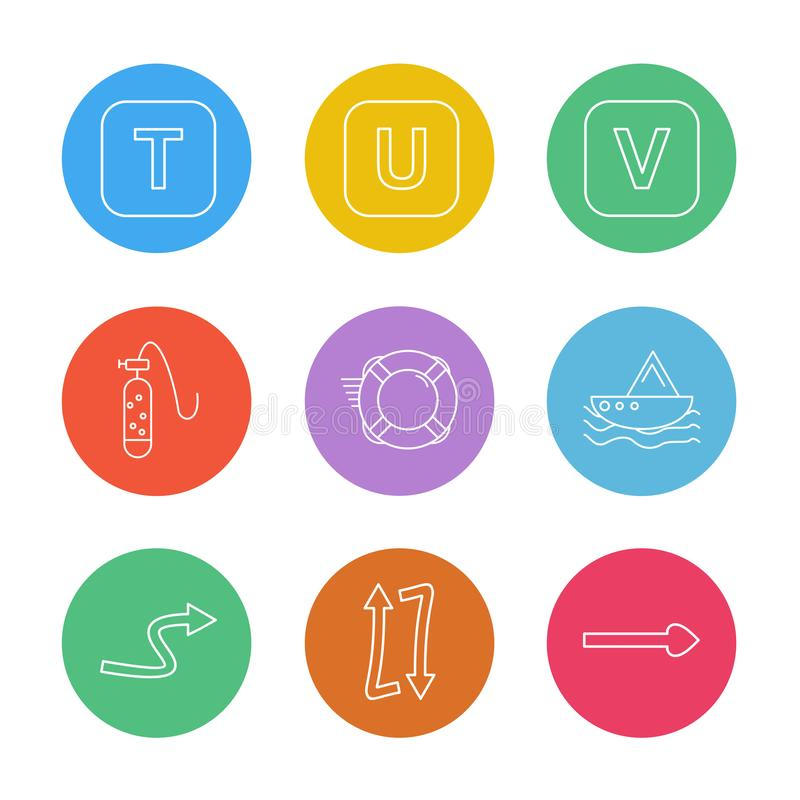 Alphabets , sea , food , picnic , summer , eps icons set vector. Alphabets , sea , food , picnic , summer , target , waether , sea side , beach , letters vector illustration