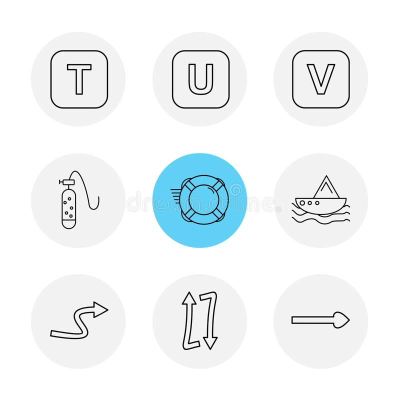Alphabets , sea , food , picnic , summer , eps icons set vector. Alphabets , sea , food , picnic , summer , target , waether , sea side , beach , letters royalty free illustration