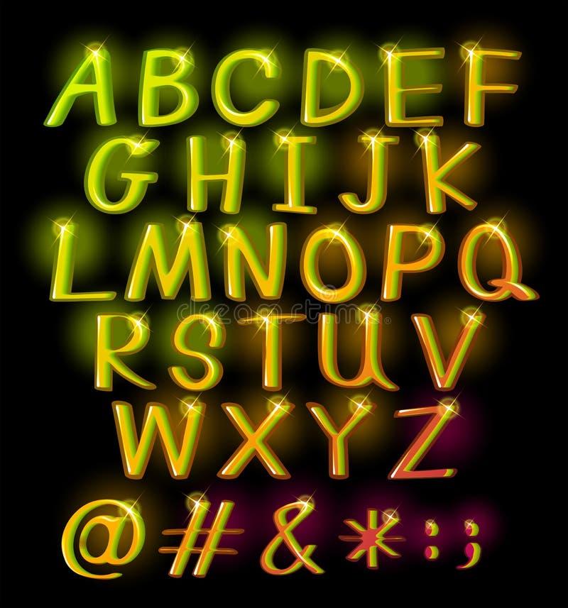 Alphabets vector illustration