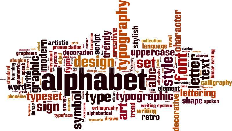 Alphabetwortwolke stock abbildung