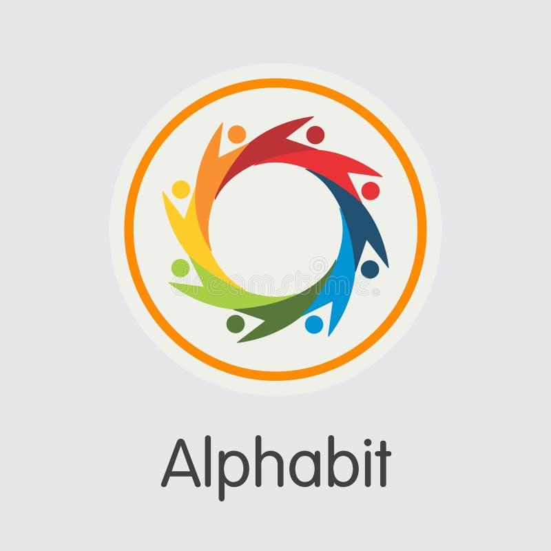 Alphabit Blockchain Cryptocurrency - ícone do sinal do vetor ilustração do vetor