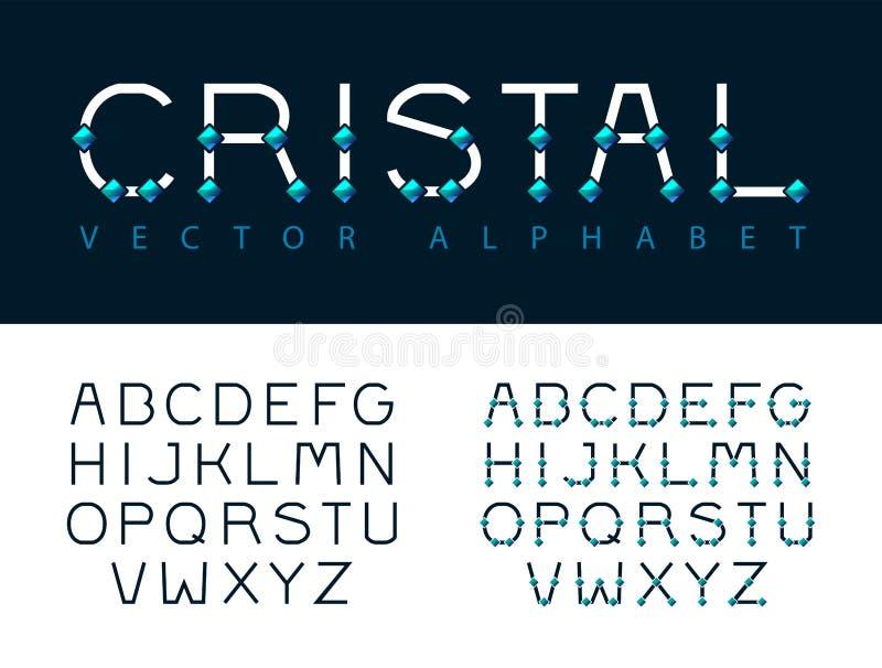 Alphaphet-Kristalle, ABC vektor abbildung