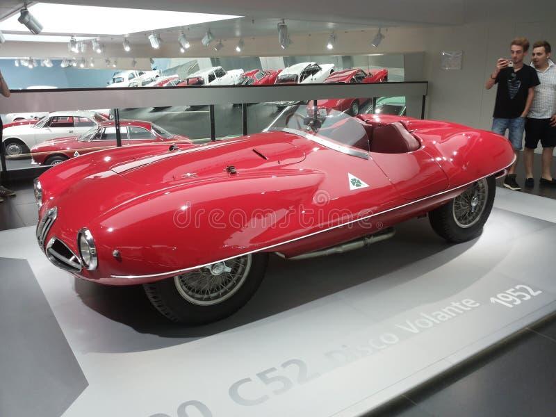 Alpharomeo-Disco volante Auto-Autos Super-nuvolari 1952 lizenzfreie stockfotos