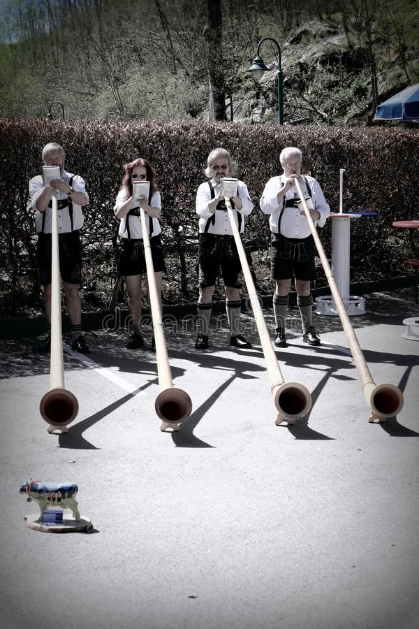 Alphorn players in Germany