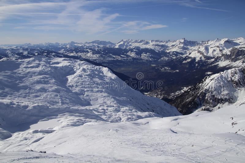 Alpi al sole fotografie stock libere da diritti