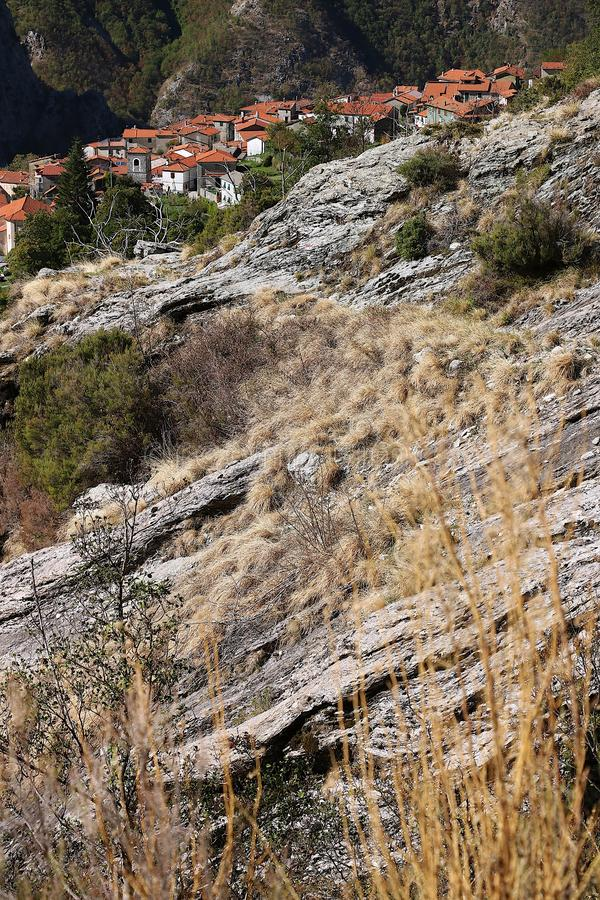 Alpi Apuane, Massa Carrare, Toscane, Italie Vue panoramique de Th photo stock