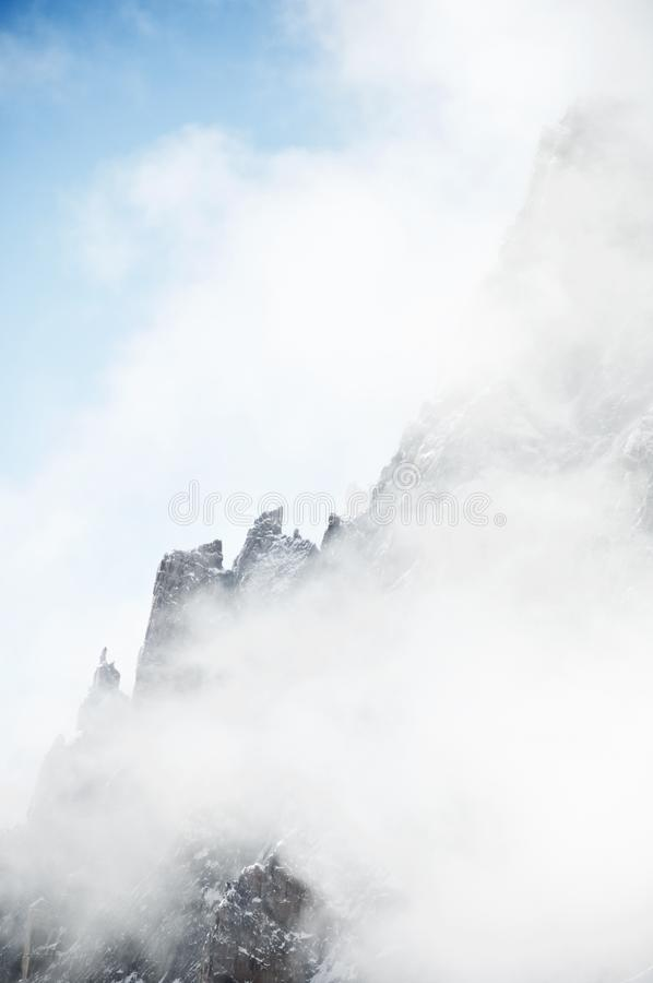 Alpi a Chamonix-Mont-Blanc fotografie stock libere da diritti