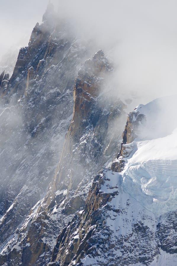 Alpi a Chamonix-Mont-Blanc immagini stock