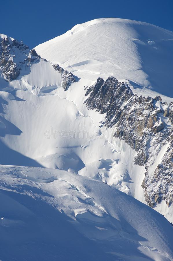 Alpi a Chamonix-Mont-Blanc immagini stock libere da diritti