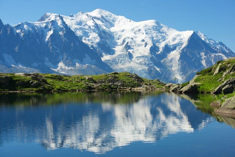 Alpi a Chamonix-Mont-Blanc fotografie stock