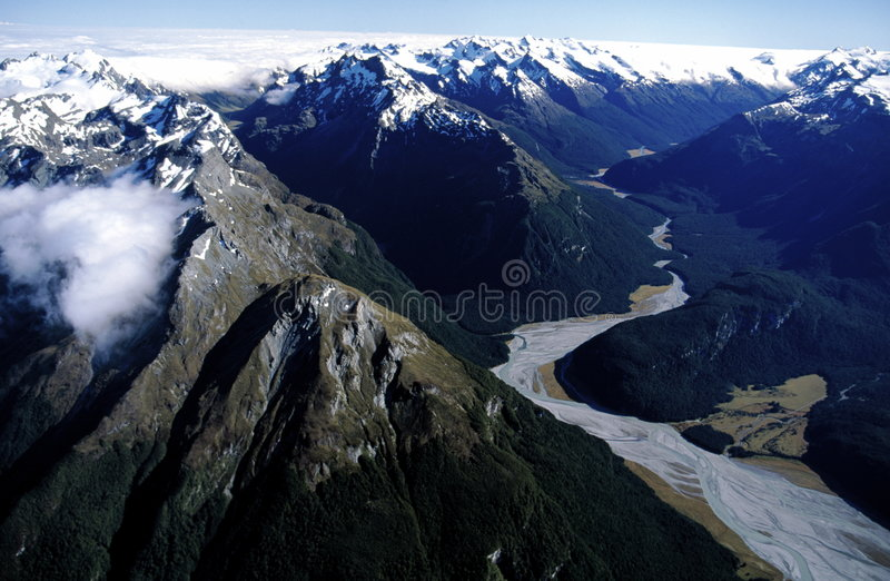 Alpi della Nuova Zelanda immagini stock libere da diritti