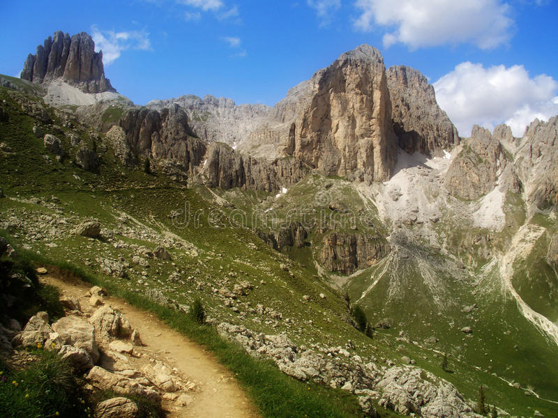 Alpi delle dolomia, Italia immagini stock