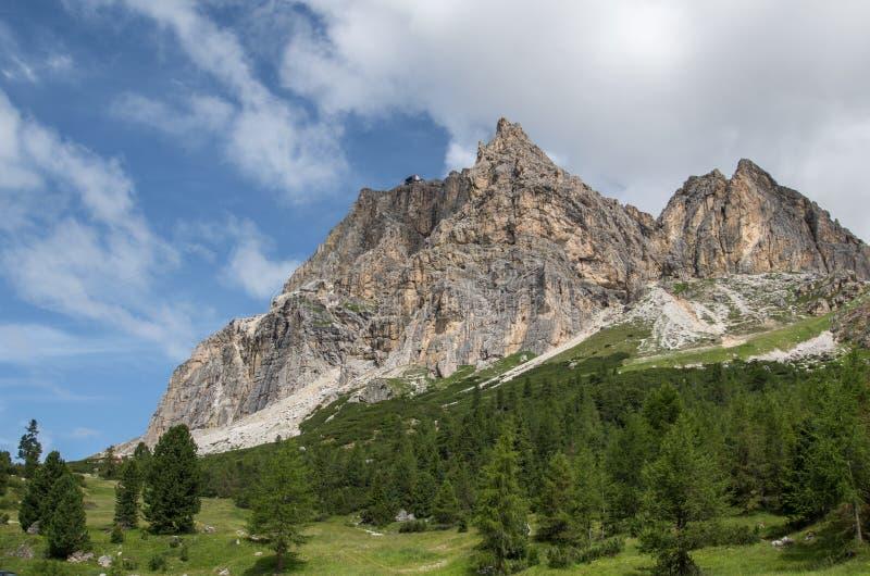 Alpi delle dolomia, montagna, estate, Italia fotografie stock