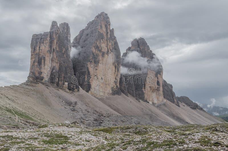 Alpi delle dolomia, montagna, estate, Italia immagine stock libera da diritti
