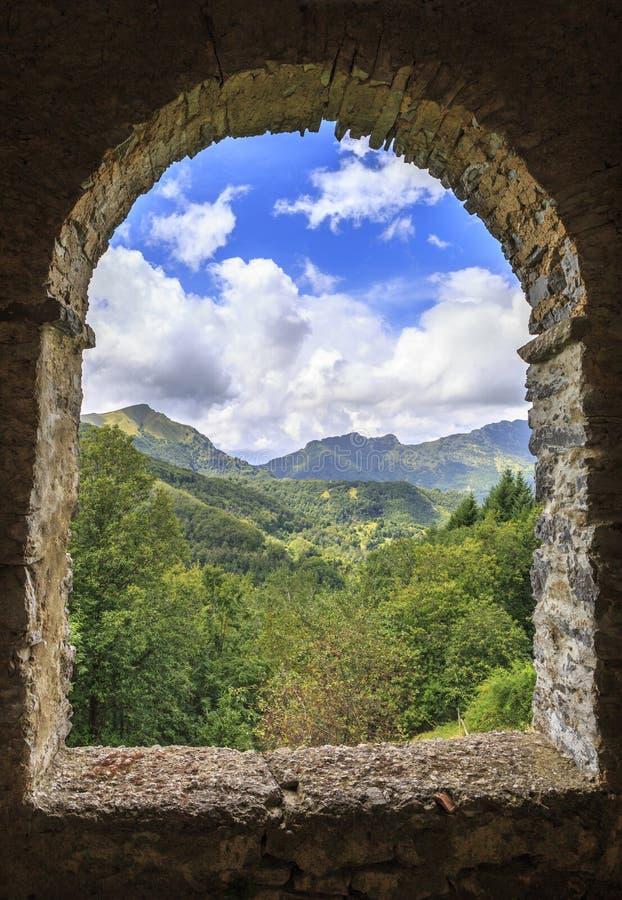 Alpi di Apuan fotografie stock