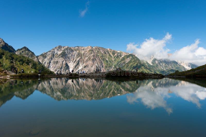Alpi Happoike Hakuba Giappone fotografia stock libera da diritti