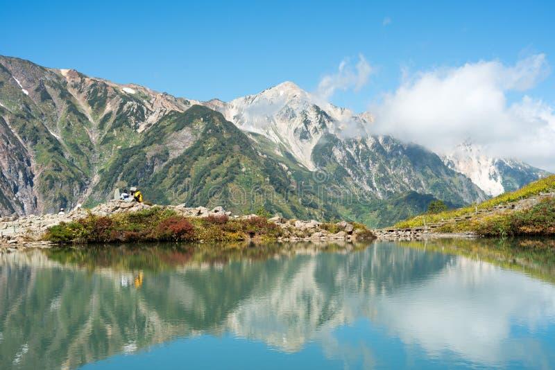 Alpi Happoike Hakuba Giappone fotografie stock libere da diritti