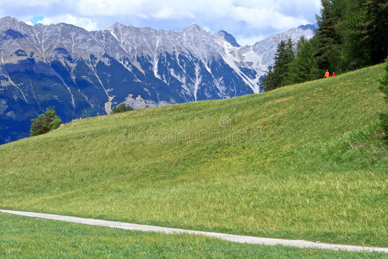 Alpi a Innsbruck, Austria fotografia stock libera da diritti