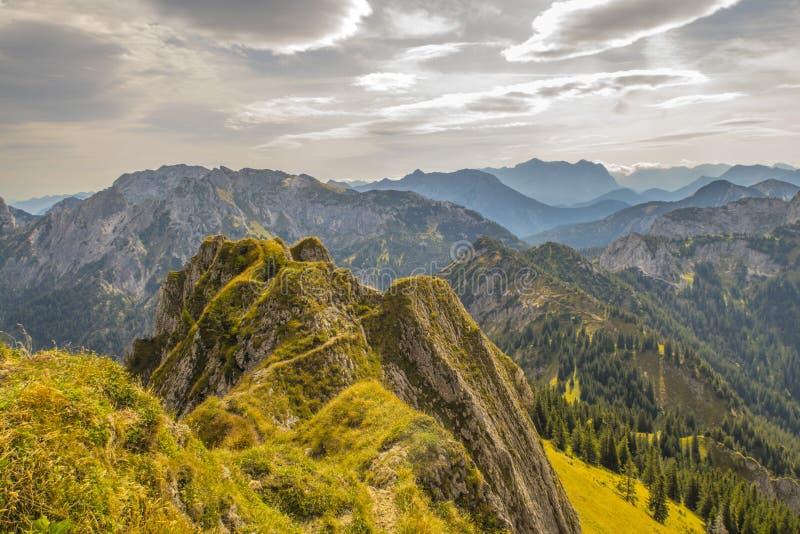 Alpi - Tegelberg fotografia stock
