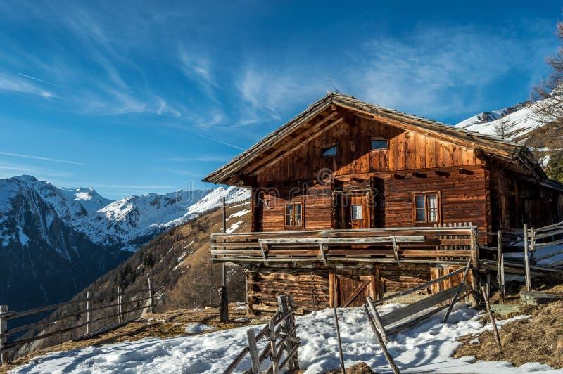 Alpien breng in Oostenrijk onder royalty-vrije stock afbeelding