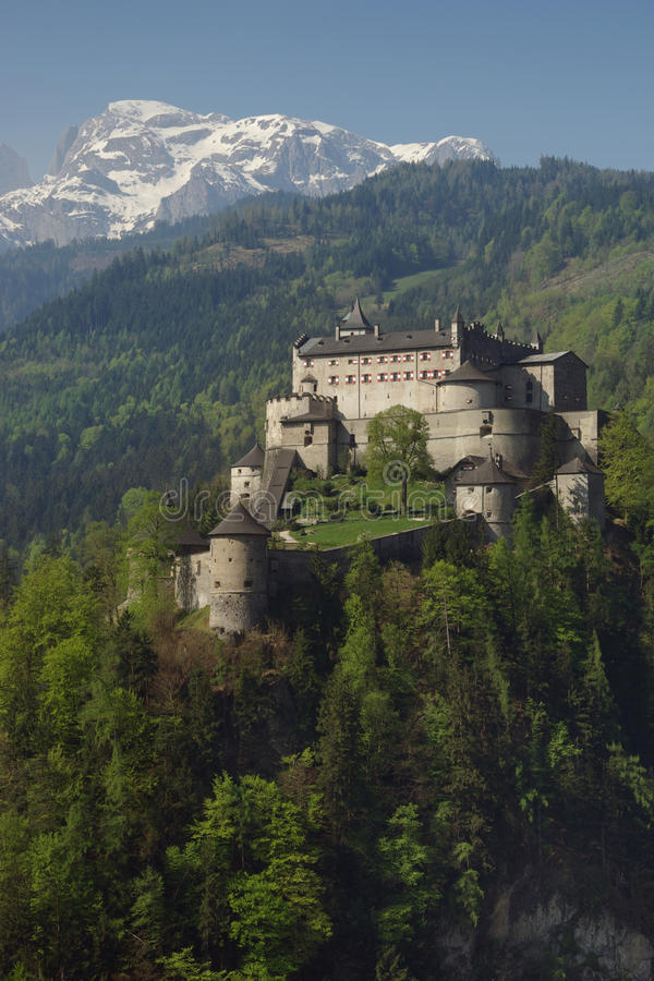 Alpien Kasteel royalty-vrije stock afbeeldingen