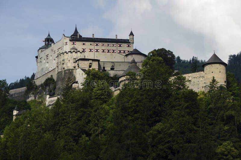 Alpien Kasteel stock afbeeldingen