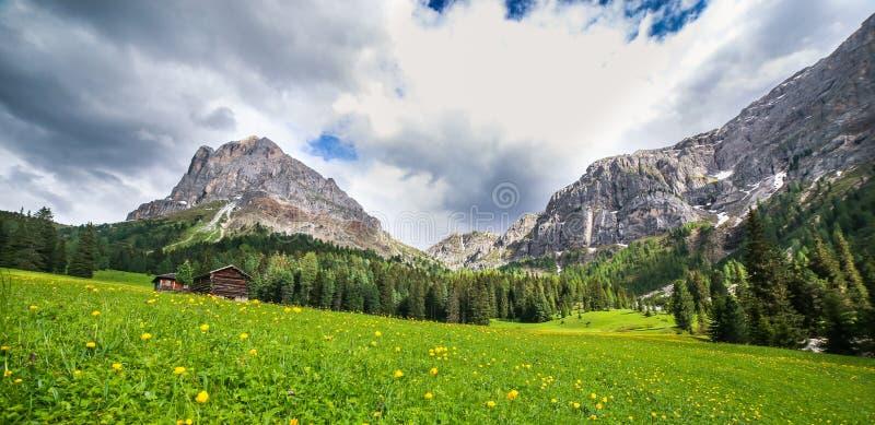 Alpien landschap in Dolomiet stock afbeelding