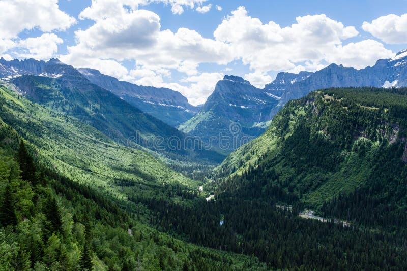 Alpien landschap in Gletsjer Nationaal Park, de V.S. royalty-vrije stock foto's