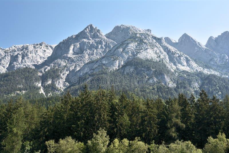 Alpien landschap in Oostenrijk royalty-vrije stock foto