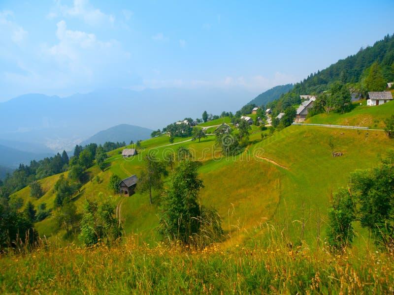 Alpien landschap in Slovenië stock foto