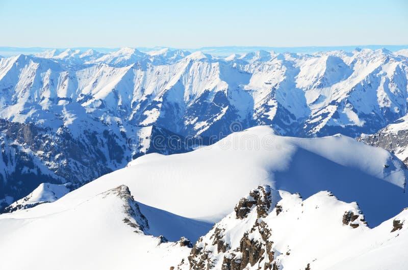 Alpien landschap, Zwitserland stock fotografie