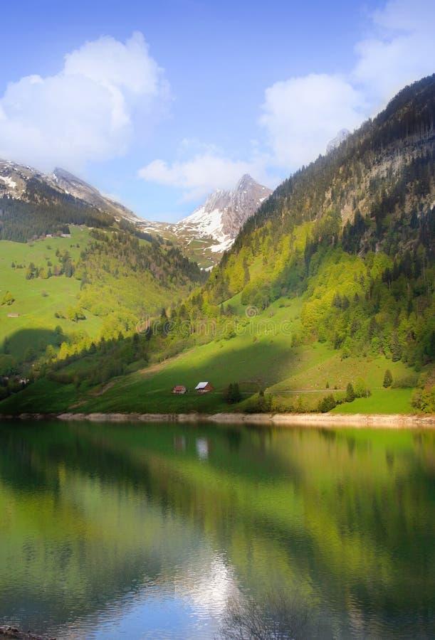 Alpien meer royalty-vrije stock foto