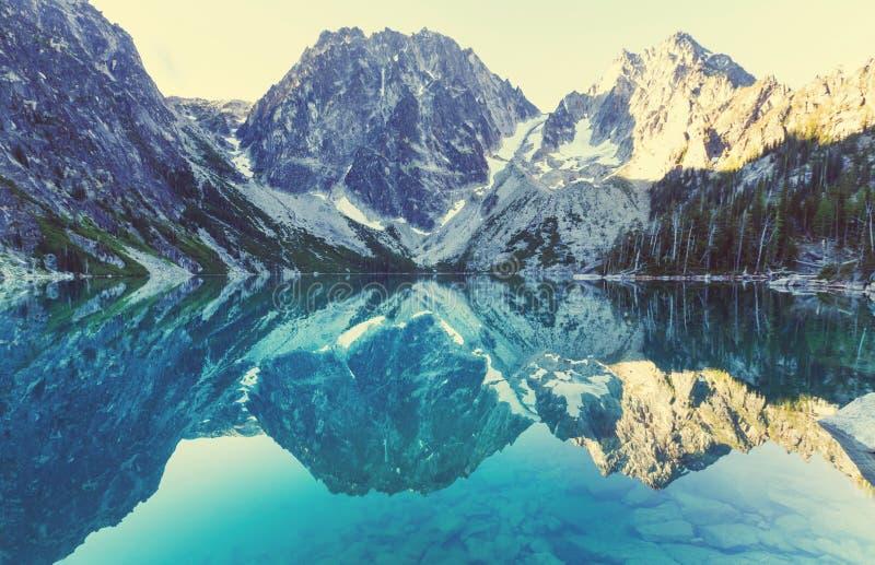 Alpien Meer stock foto's
